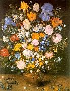 Jan Brueghel Bouquet of Flowers in a Clay Vase oil painting picture wholesale