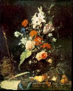 Jan Davidsz. de Heem Flower Still-life with Crucifix and Skull oil painting picture wholesale