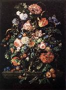 Jan Davidsz. de Heem Flowers in Glass and Fruits oil painting picture wholesale