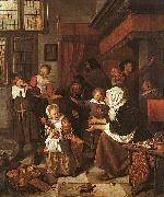 Jan Steen The Feast of St.Nicholas oil painting picture wholesale