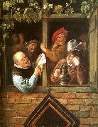 Jan Steen Rhetoricians at a Window oil painting artist