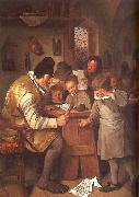 Jan Steen The Schoolmaster oil painting artist