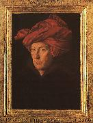 Jan Van Eyck A Man in a Turban   3 oil painting artist
