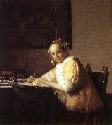 Jan Vermeer A Lady Writing a Letter oil painting picture wholesale