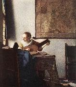 Jan Vermeer Woman with a Lute near Window oil painting picture wholesale