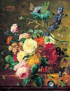Jan van Huysum Basket of Flowers oil painting picture wholesale