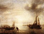 Jan van de Capelle Calm oil painting artist