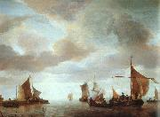 Jan van de Cappelle Ships on a Calm Sea near Land oil painting artist