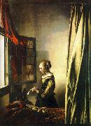 JanVermeer Girl Reading a Letter at an Open Window oil painting picture wholesale
