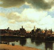 JanVermeer View of Delft oil painting picture wholesale