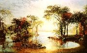 Jasper Cropsey Sunset Sailing oil painting picture wholesale