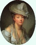 Jean Baptiste Greuze Young Woman in a White Hat oil painting picture wholesale