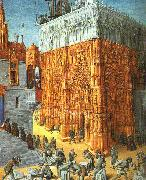 Jean Fouquet The Building of a Cathedral oil painting picture wholesale