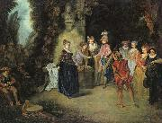 Jean-Antoine Watteau Love in the French Theatre oil painting picture wholesale