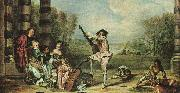 Jean-Antoine Watteau The Music Party oil painting artist