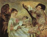 Jean-Antoine Watteau The Music Lesson oil painting artist