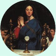 Jean-Auguste Dominique Ingres The Virgin with the Host oil painting artist