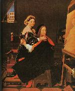 Jean-Auguste Dominique Ingres Raphael and the Fornarina oil painting artist