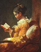 Jean-Honore Fragonard Young Girl Reading oil painting picture wholesale