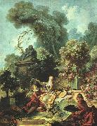 Jean-Honore Fragonard The Lover Crowned oil painting picture wholesale