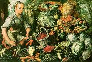 Joachim Beuckelaer Market Woman with Fruits, Vegetables and Poultry oil painting artist