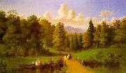 Johann M Culverhouse An Afternoon Outing oil painting artist