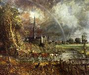 John Constable Salisbury Cathedral from the Meadows2 oil painting artist