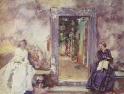 John Singer Sargent The Garden Wall oil painting picture wholesale