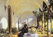 John Singer Sargent Breakfast in  the Loggia oil painting picture wholesale