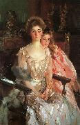 John Singer Sargent Mrs Fiske Warren her Daughter Rachel oil painting picture wholesale