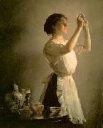 Joseph Decamp The Blue Cup oil painting picture wholesale