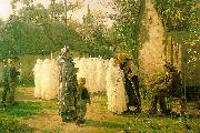 Jules Breton The Communicants France oil painting reproduction