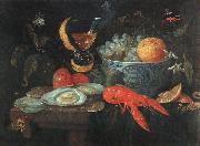 KESSEL, Jan van Still Life with Fruit and Shellfish szh oil painting artist
