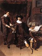 KEYSER, Thomas de Constantijn Huygens and his Clerk g oil painting artist