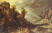 Kerstiaen de Keuninck Landscape with Tobias and the Angel oil painting picture wholesale