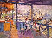 Konstantin Korovin Pier in Gurzuf oil painting picture wholesale