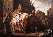 LASTMAN, Pieter Pietersz. The Triumph of Mordecai g oil painting artist
