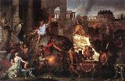 LE BRUN, Charles Entry of Alexander into Babylon h oil painting artist