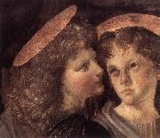 LEONARDO da Vinci The Baptism of Christ (detail) sg oil painting picture wholesale