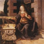 LEONARDO da Vinci Annunciation (detail) sg77 oil painting picture wholesale