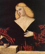 LICINIO, Bernardino Portrait of a Woman t09 oil