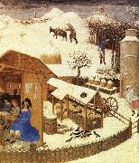 LIMBOURG brothers Les trs riches heures du Duc de Berry: Fevrier (February), detail g oil painting picture wholesale
