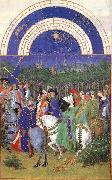 LIMBOURG brothers Les trs riches heures du Duc de Berry: Mai (May) g oil painting picture wholesale