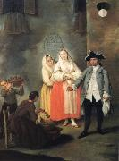 LONGHI, Pietro Vendor of Roast Meat sg oil painting picture wholesale