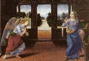 LORENZO DI CREDI Annunciation (detail) sg oil painting picture wholesale
