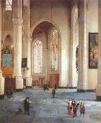 LORME, Anthonie de Interior of the St Laurenskerk in Rotterdam g oil painting picture wholesale