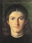 LOTTO, Lorenzo Head of a Young Man g oil painting artist