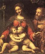 LUINI, Bernardino Holy Family with the Infant St John af oil painting picture wholesale
