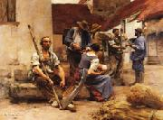 Leon Lhermitte Harvesters's Country oil painting picture wholesale