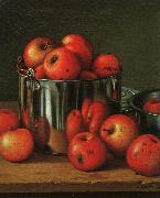 Levi Wells Prentice Apples in a Tin Pail oil painting artist